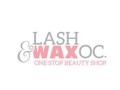 Lash Wax Beauty Bar Shop Boutique Logo Modern Design Graphic