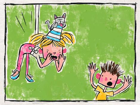 Page-6 -a.jpgKids book cildrens illustration cartoon book illustrator arabic english cute funny silly abz hakim animals