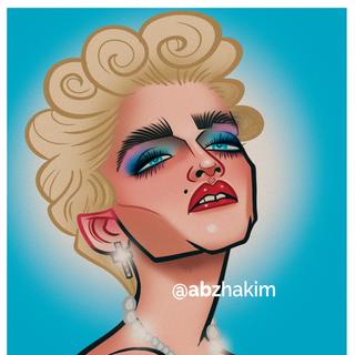 Madonna Caricature Portrait Abz Hakim