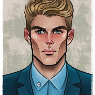 Karl Stuke - Caricature - Portraite - Graphic Design - Illustration - Male Model - Abz Hakim