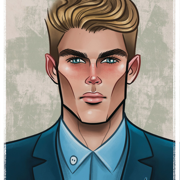 Karl Stuke - Caricature - Portraite - Graphic Design - Illustration - Male Model - Abz Hakim