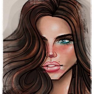 Adriana Lima - Caricature - Portraite - Graphic Design - Illustration - Lips - Make up - Super Model