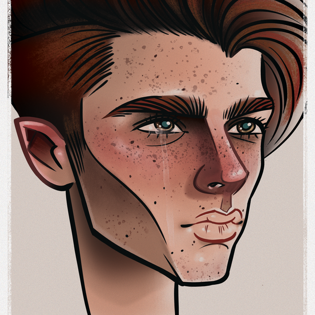 Caricature - Portraite - Graphic Design - Illustration - Male Model - hunk - sad - depressed  - Abz Hakim