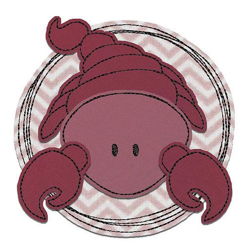 Doodle-Button Skorpion 18x18cm