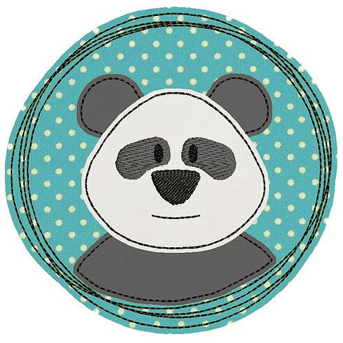 Doodle-Button Panda 13x13cm