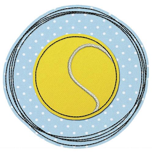 Doodle-Button Tennisball 10x10cm