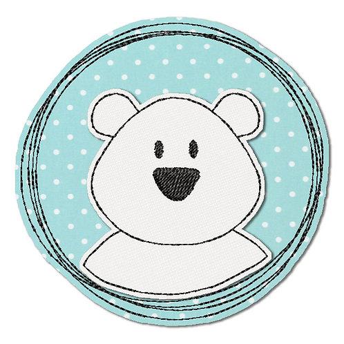 Doodle-Button Eisbär 10x10cm