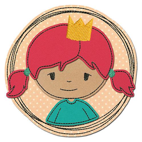 Doodle-Button Prinzessin 7x7cm