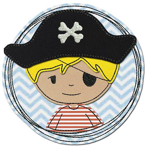 Doodle-Button Pirat 10x10cm