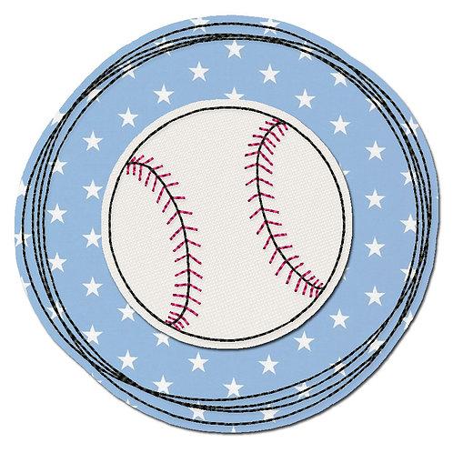 Doodle-Button Baseball 10x10cm
