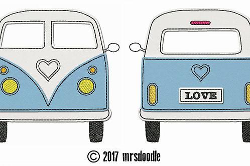 Love-Camper Doodle 13x18cm