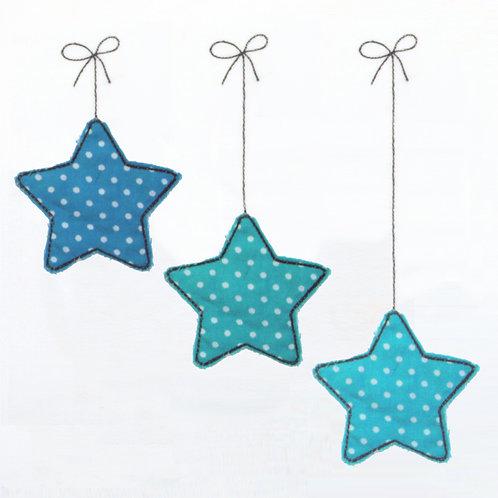 Set Sterne hängend 3 Doodles