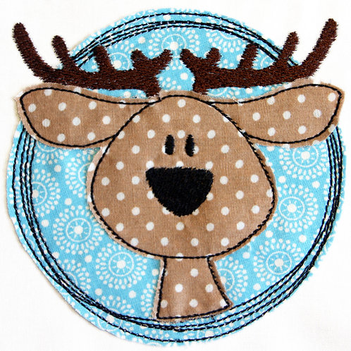 Doodle-Button Hirsch 10x10cm