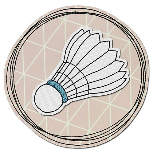 Doodle-Button Federball 10x10cm