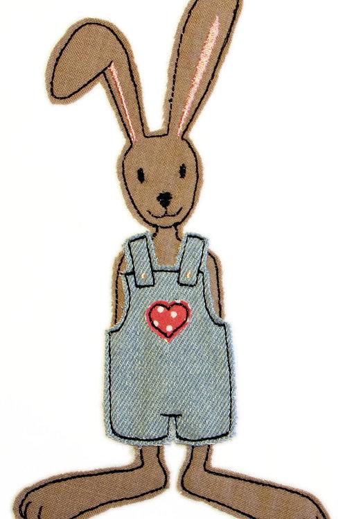 Hase mit Hose - Doodle-Stickdatei 13x18cm