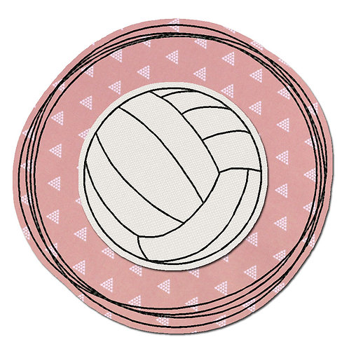 Doodle-Button Volleyball 13x13cm