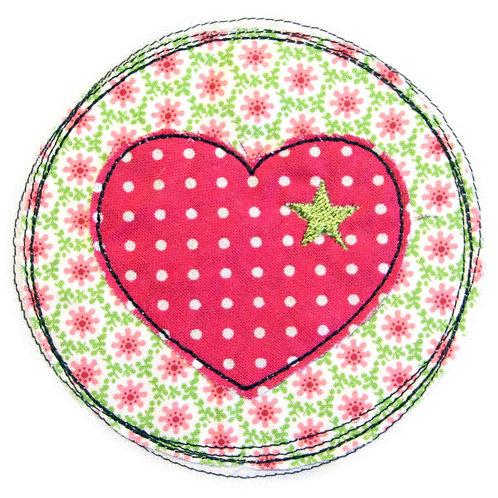 Doodle-Button Herz 10x10cm