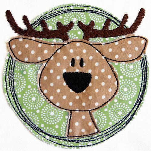 Doodle-Button Hirsch 7x7cm
