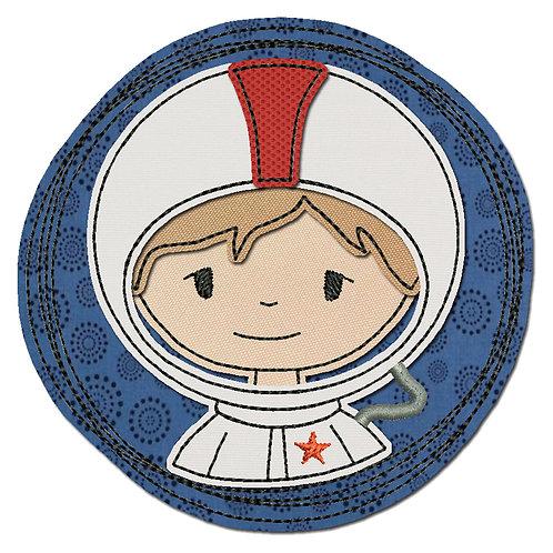 Doodle-Button Astronaut 10x10cm