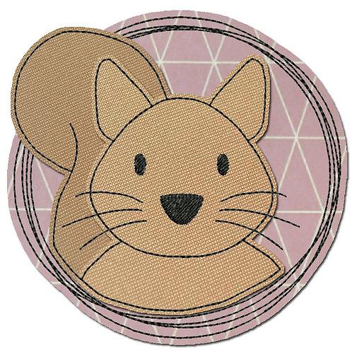 Doodle-Button Eichhörnchen 13x13cm