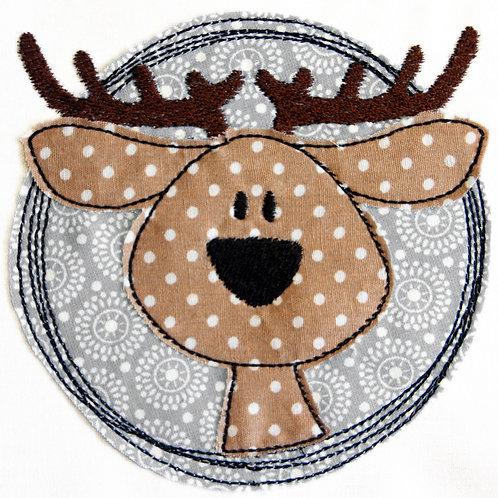 Doodle-Button Hirsch 13x13cm