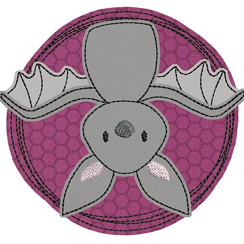 Doodle-Button Fledermaus 7x7cm