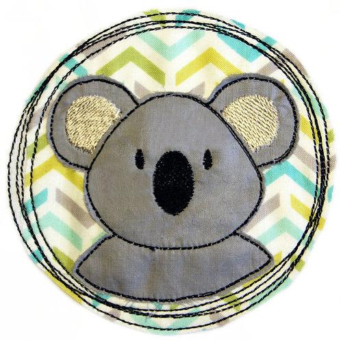 Doodle-Button Koala 10x10cm