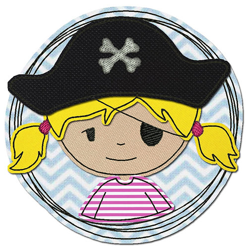 Doodle-Button Piratin 18x18cm