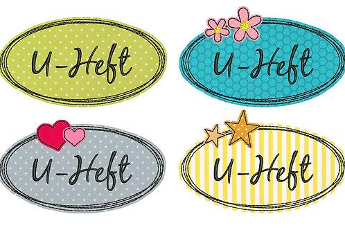 Button-Set U-Heft - Doodle Stickdateien 10x10cm