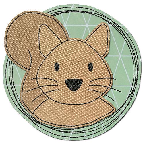 Doodle-Button Eichhörnchen 10x10cm