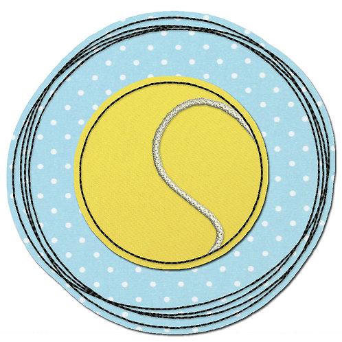 Doodle-Button Tennisball 13x13cm
