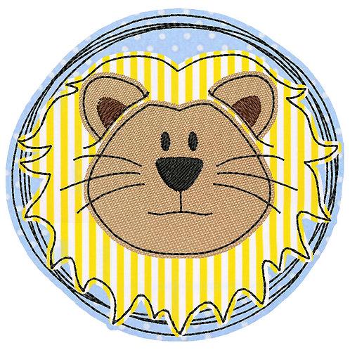 Doodle-Button Löwe 10x10cm