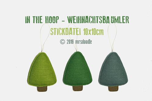 Weihnachtsbaumler - Stickdatei ITH 10x10cm
