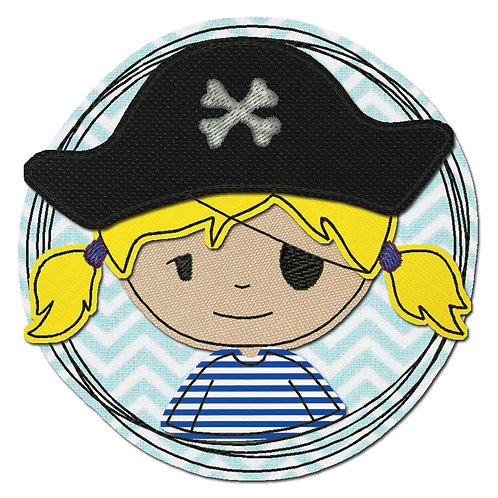 Doodle-Button Piratin 13x13cm