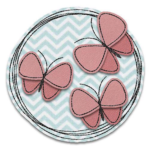 Schmetterlinge - Doodle-Stickdatei 10x10cm