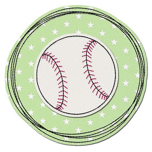 Doodle-Button Baseball 13x13cm