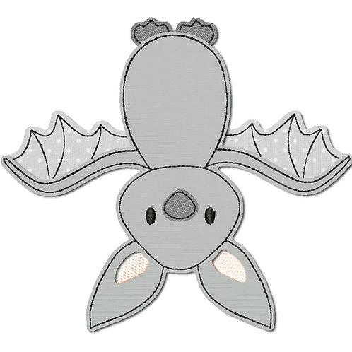 Fledermaus - Doodle-Stickdatei 10x10cm