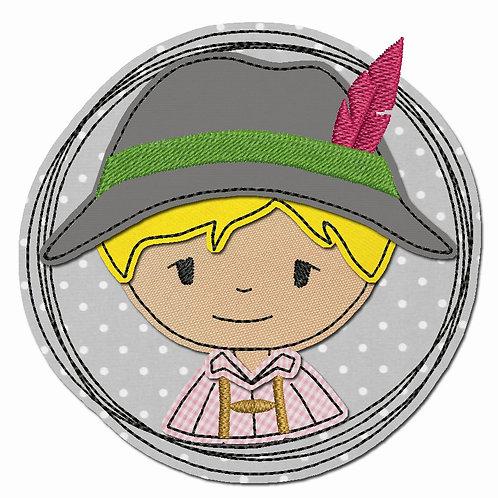 Doodle-Button Bua 10x10cm