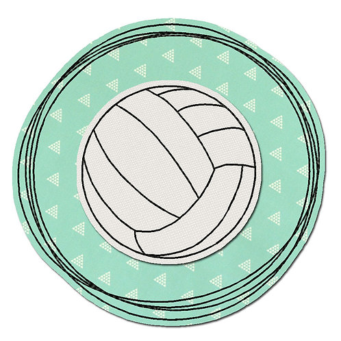 Doodle-Button Volleyball 10x10cm