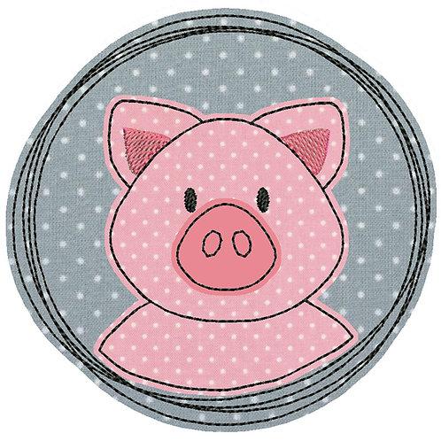 Doodle-Button Ferkel 10x10cm