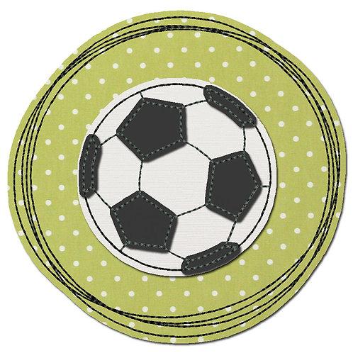 Doodle-Button Fussball 10x10cm