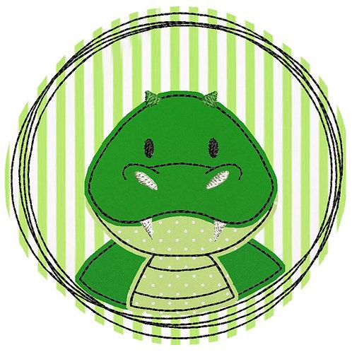 Doodle-Button Krokodil 10x10cm