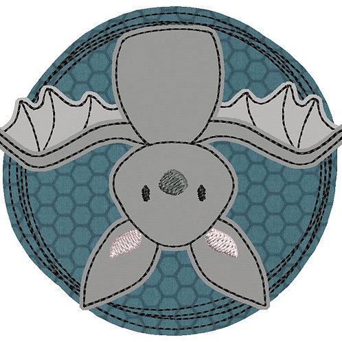 Doodle-Button Fledermaus 13x13cm