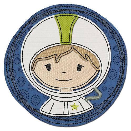 Doodle-Button Astronaut 7x7cm