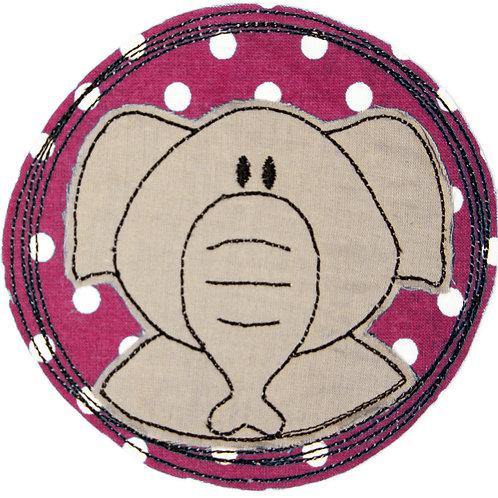 Doodle-Button Elefant 7x7cm