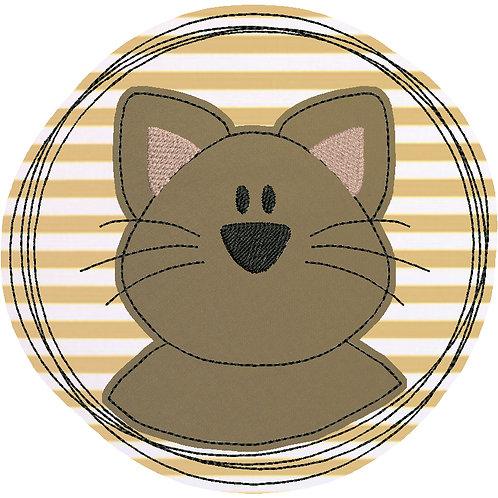 Doodle-Button Katze 7x7cm