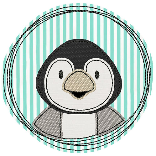 Doodle-Button Pinguin 10x10cm