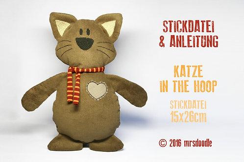 Katze - ITH-Stickdatei 16x26cm