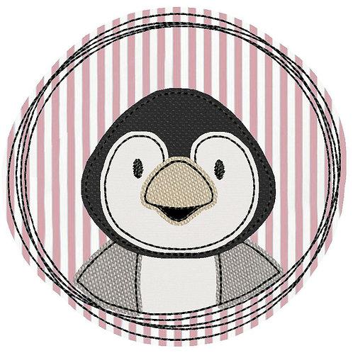 Doodle-Button Pinguin 13x13cm