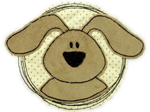 Doodle-Button Hund 10x12cm